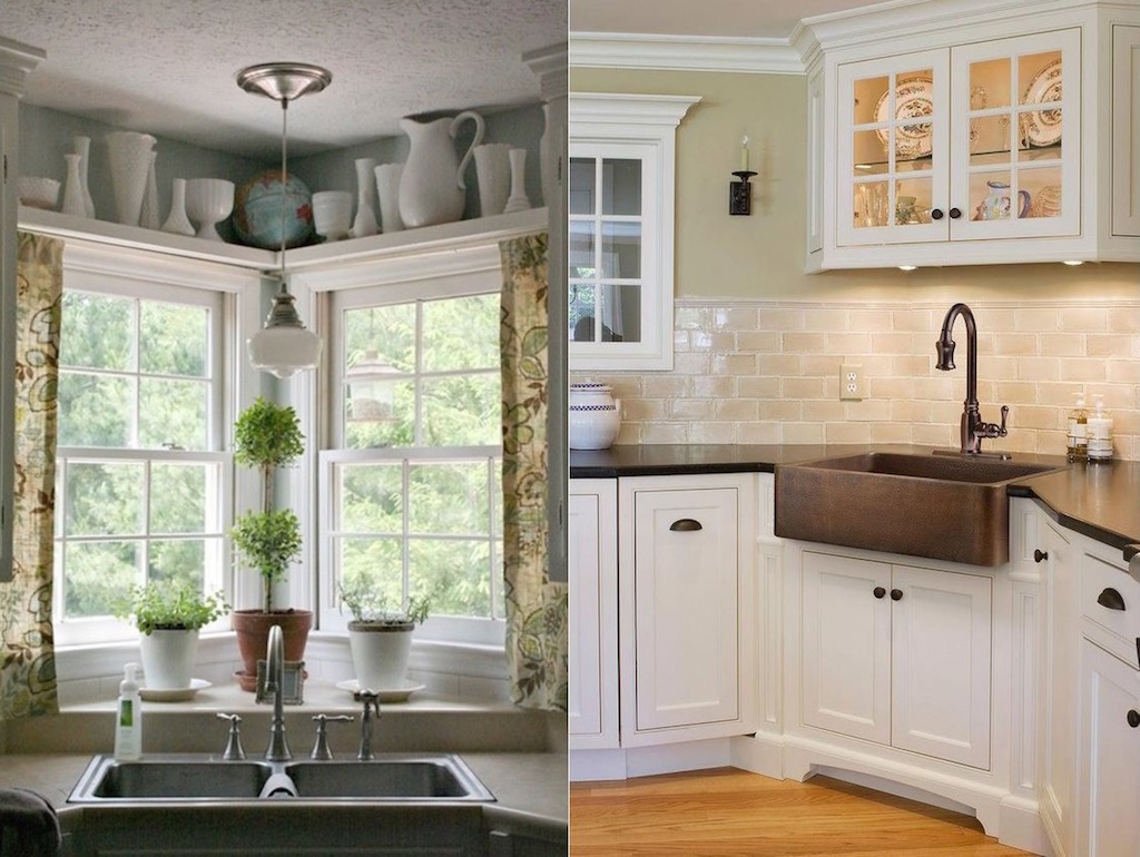 corner kitchen sink ideas gray rugs 20 pictures of island designs with seating