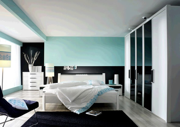 Stylish Blue Color Schemes For Bedrooms