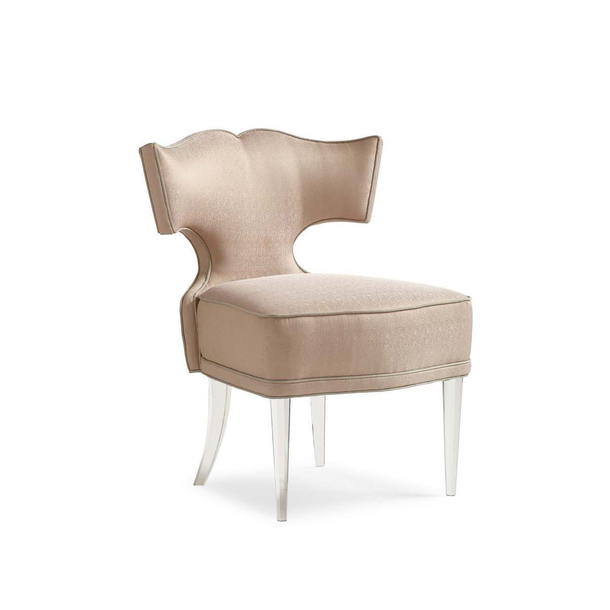 Acrylic Chair Caracole Facet Nating Glamorous Accent Chair With
