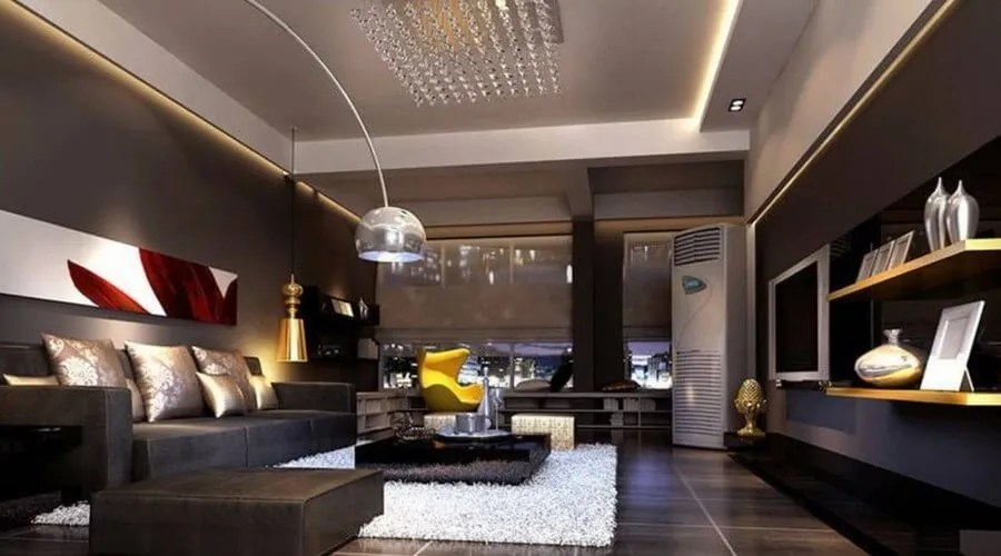 10 Stylish Dark Living Room Interior Design Ideas