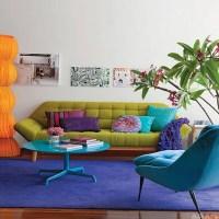 10 Cheerful Interior Design Ideas with Colorful Sofa ...