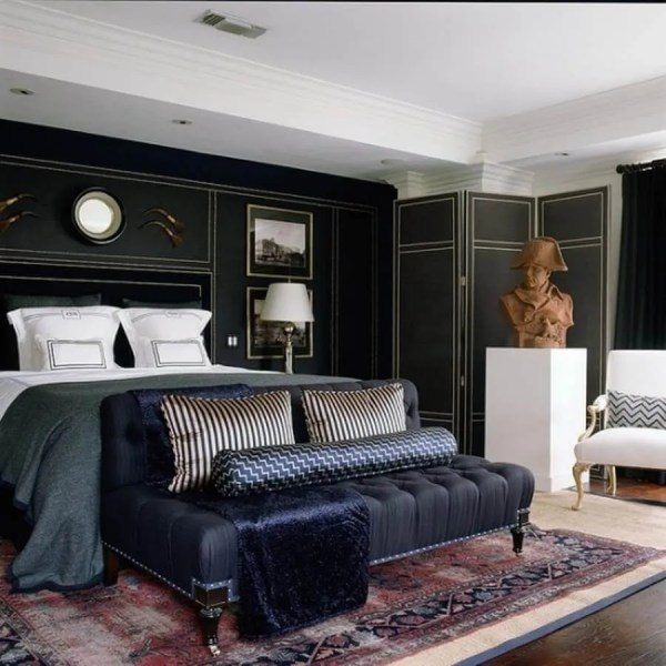 masculine bedroom decorating ideas Elegant and Dramatic Masculine Bedroom Designs