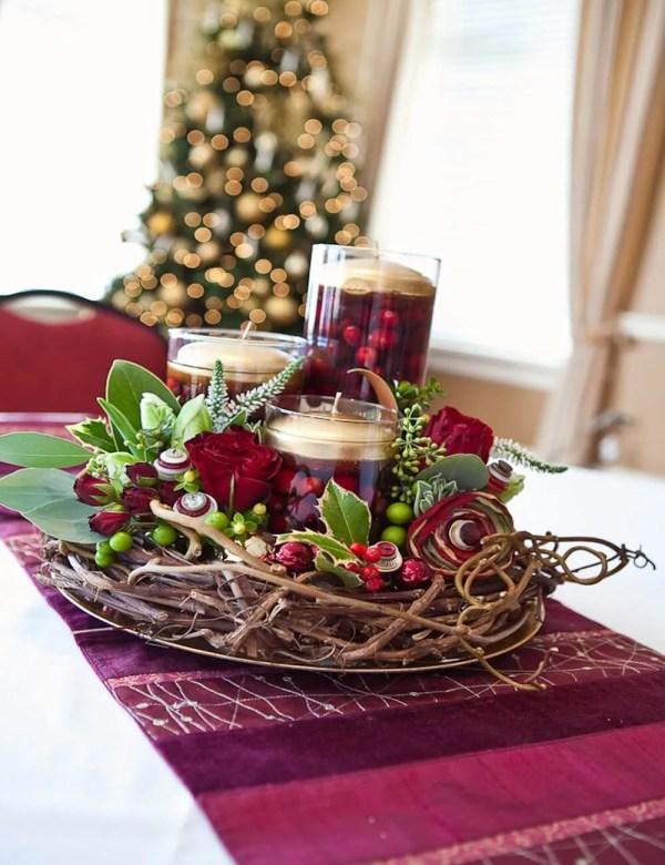 Christmas Cranberry Centerpiece