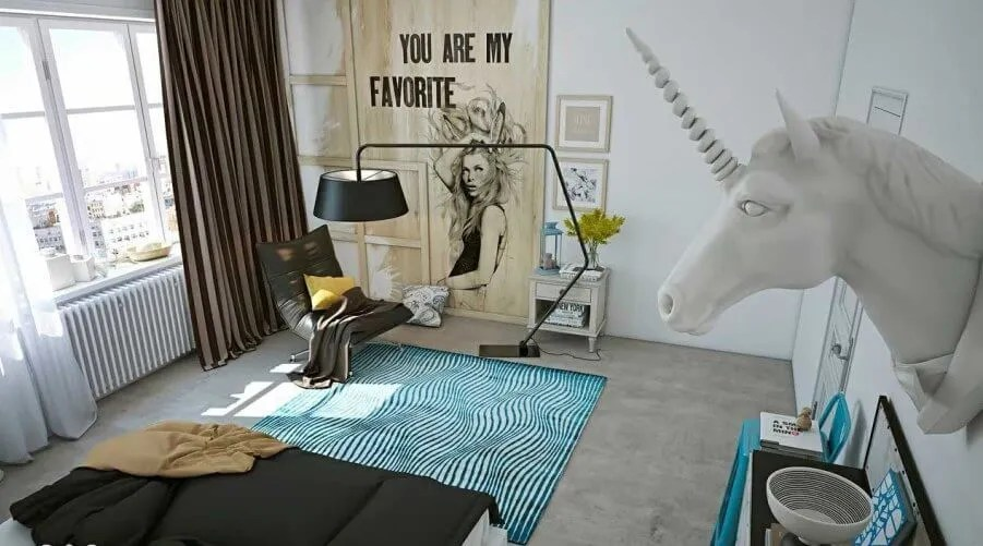 9 Unicorn Inspired Bedroom For GIrls Https