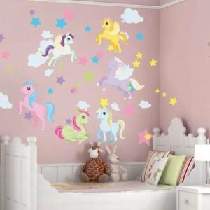 unicorn bedroom magical inspired interioridea stickers decal paint bedding murals
