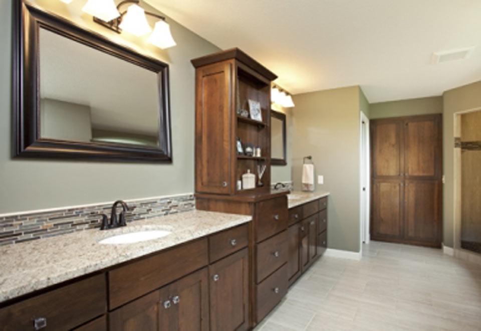 Darkwood Seagreen Bathroom Vanity Interior Impressions