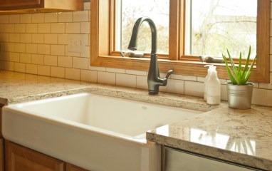 After: Beautiful Ceramic Farm House Sink
