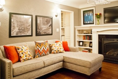 After: Chaise lounge in the study