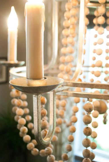 After: Dining Chandelier Detail