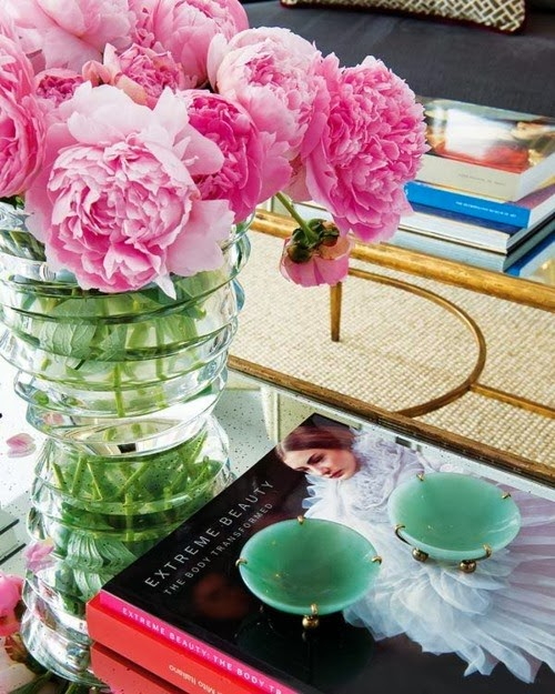 flower coffee table decor