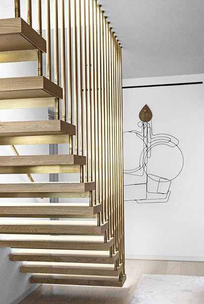 brass staircase