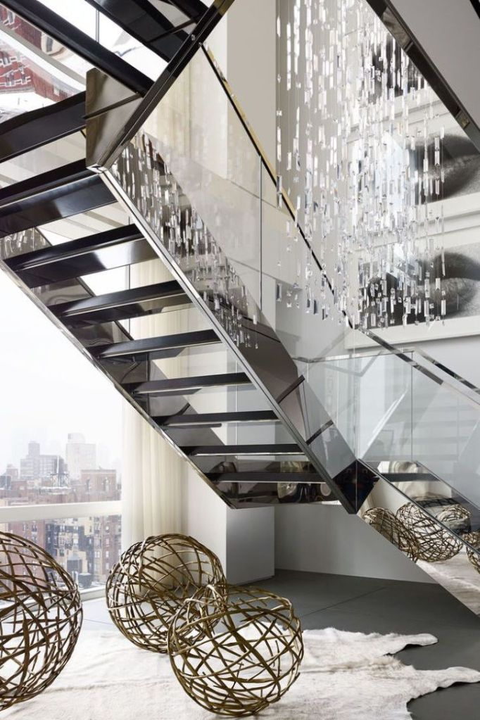stainless steel open staircase