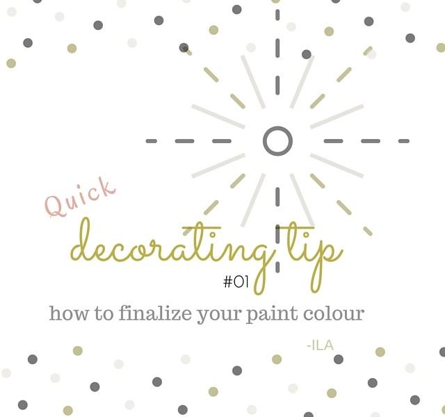 A designer secret for finalizing your paint colour!