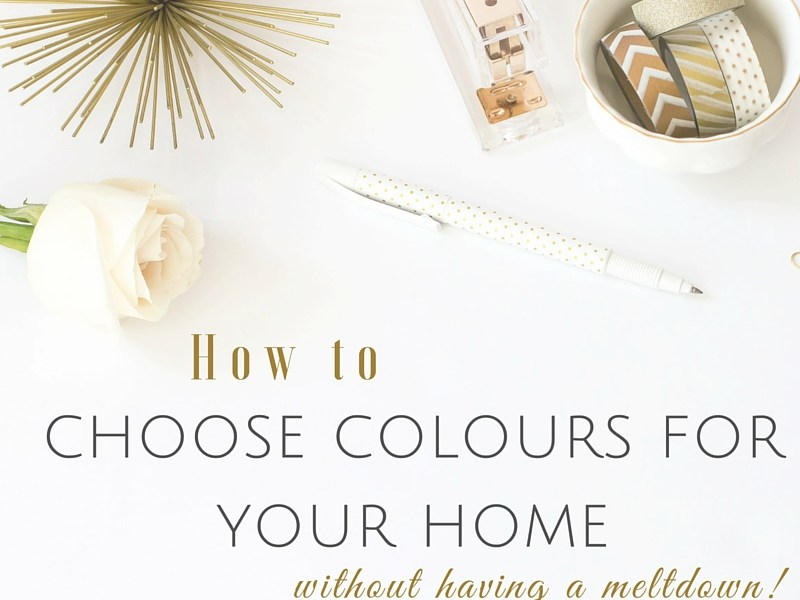 How to choose colours for your home (without having a meltdown)