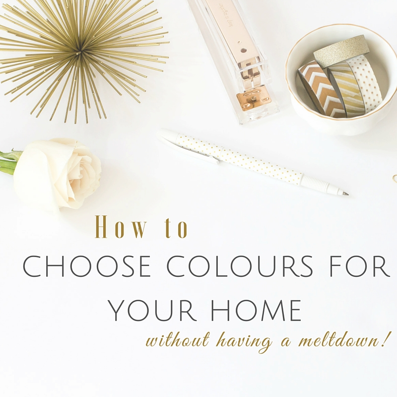 how to choose colours for your home without having a meltdown
