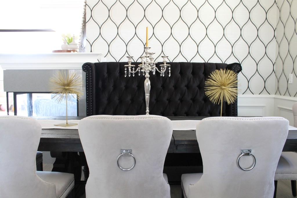 glam dining room. interiorloveaffair.com