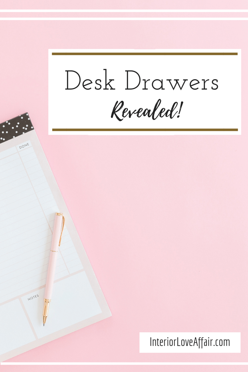 how to organize your desk drawers