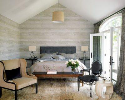 Metropolitan Home_modern neutral  faux bois wallpaper