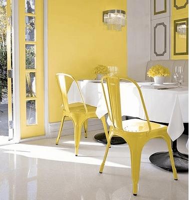 yellow kitchen chairs  Loris Decoration