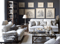 Gray toile living room | Interiorly