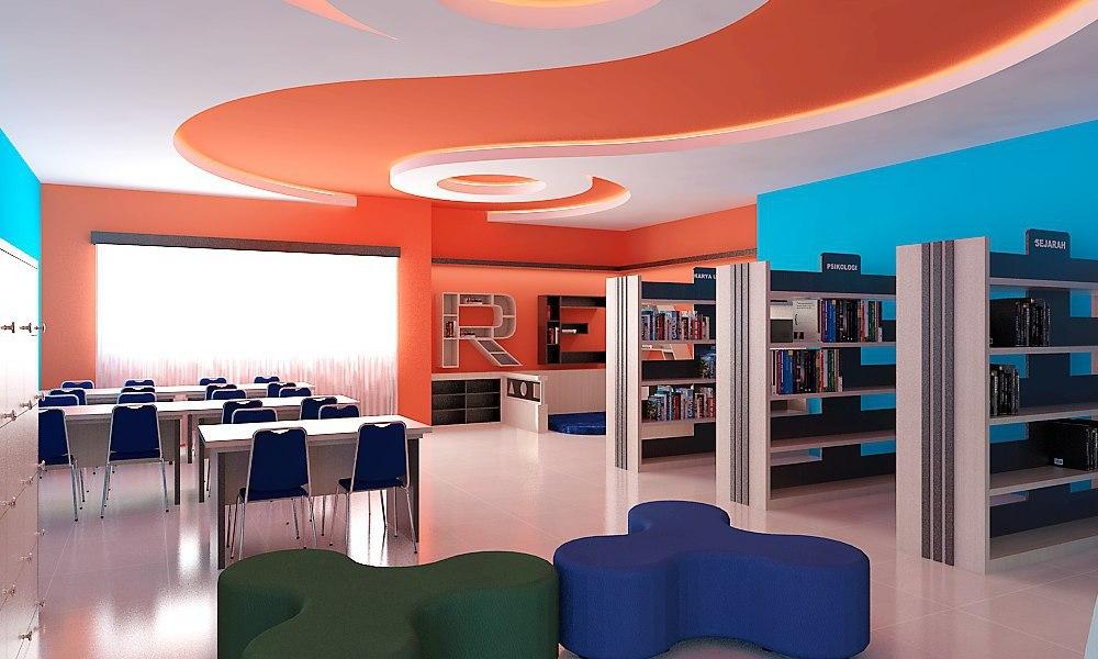 Desain dan Pembuatan Ruang Perpustakaan SMA UII Banguntapan Bantul