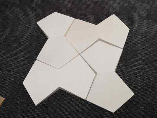 Playboy 3D ACOUSTIC WALL PANEL - White