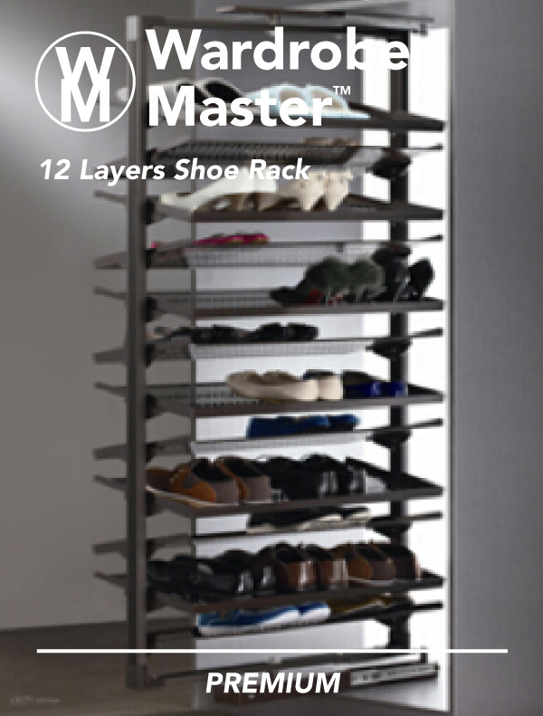 Wardrobe Master Twelve Layers Rotating Shoe Rack Interior One Shop Online