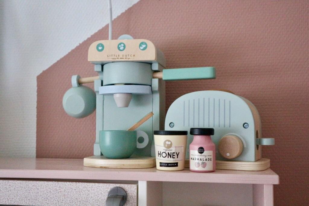 espressomachine broodrooster houten speelgoed little dutch