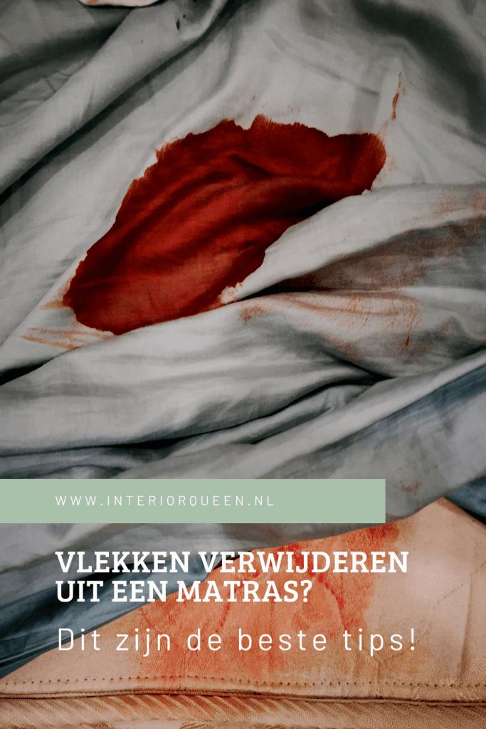 bloedvlekken verwijderen uit matras