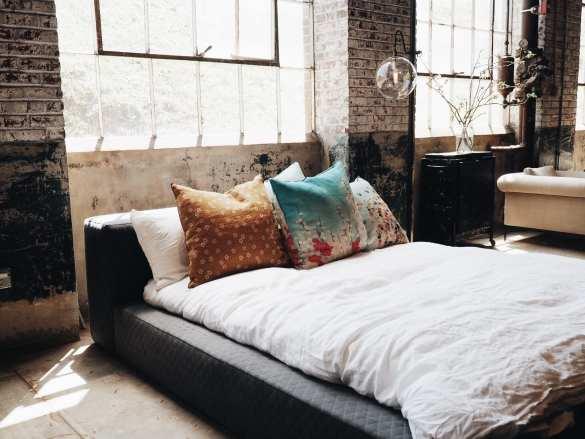 industriële slaapkamer styling
