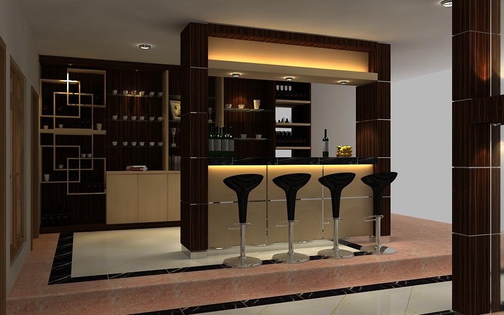 Smaller Kitchen Home design with Little bar Desk  Interior room design