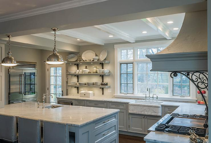 Benjamin Moore White Dove Kitchen Cabinets Benjamin Moore Gray Owl Paint Color Ideas - Interiors By Color