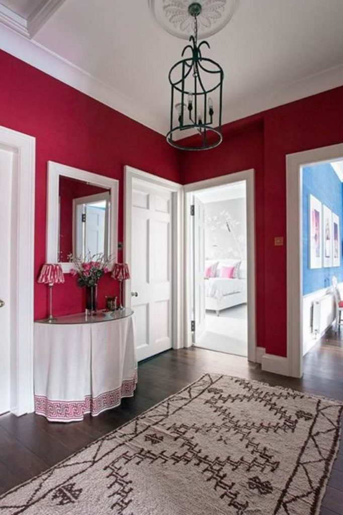 Modern Gray Bathroom Farrow & Ball Rectory Red Paint Color Schemes - Interiors