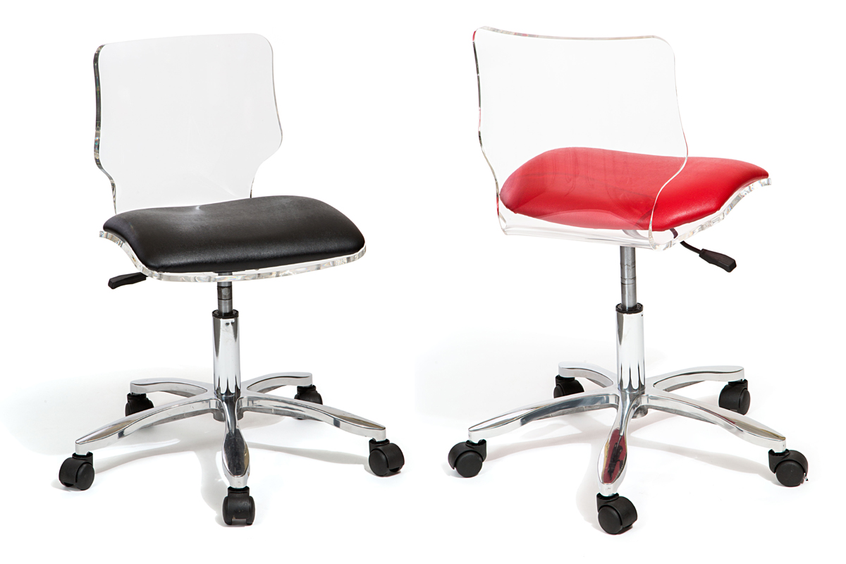 acrylic desk chair with cushion swivel dublin furniture interiors by royale