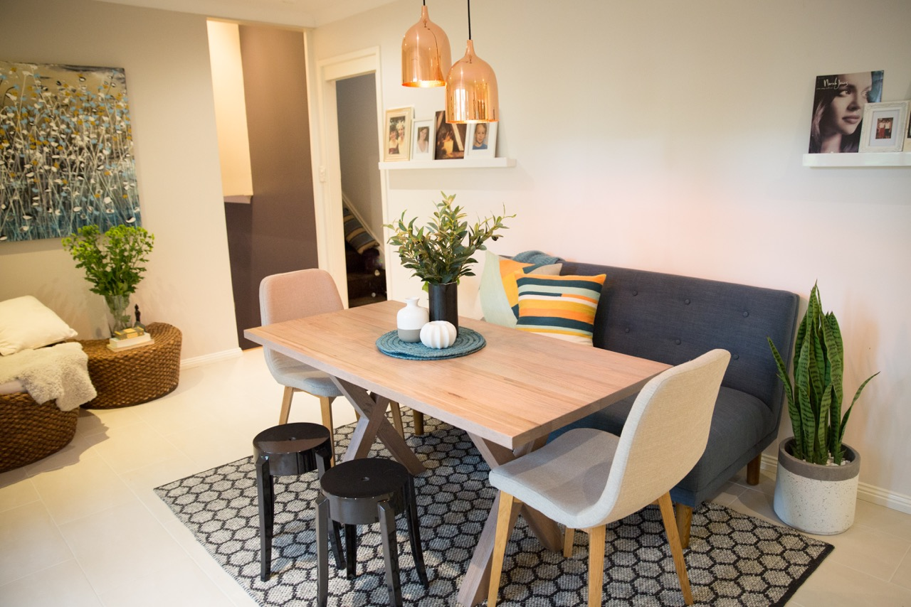 Sofa Seating for Dining Table  Cat Cossettini Interiors