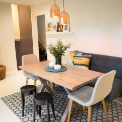 Dining Table And Sofa In Living Room Craftsman Seating For  Cat Cossettini Interiors
