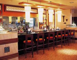 Interiors Indian Restaurant Bar Area InteriorSense Commercial Design Project