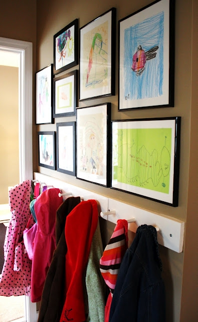 Mud Room Kid Art
