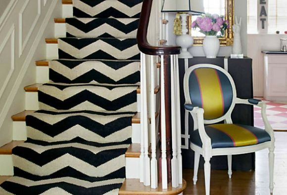 Chevron Stair Runner - Liz Caan