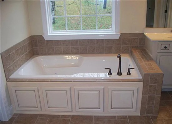 Pink Beige Tub Surround