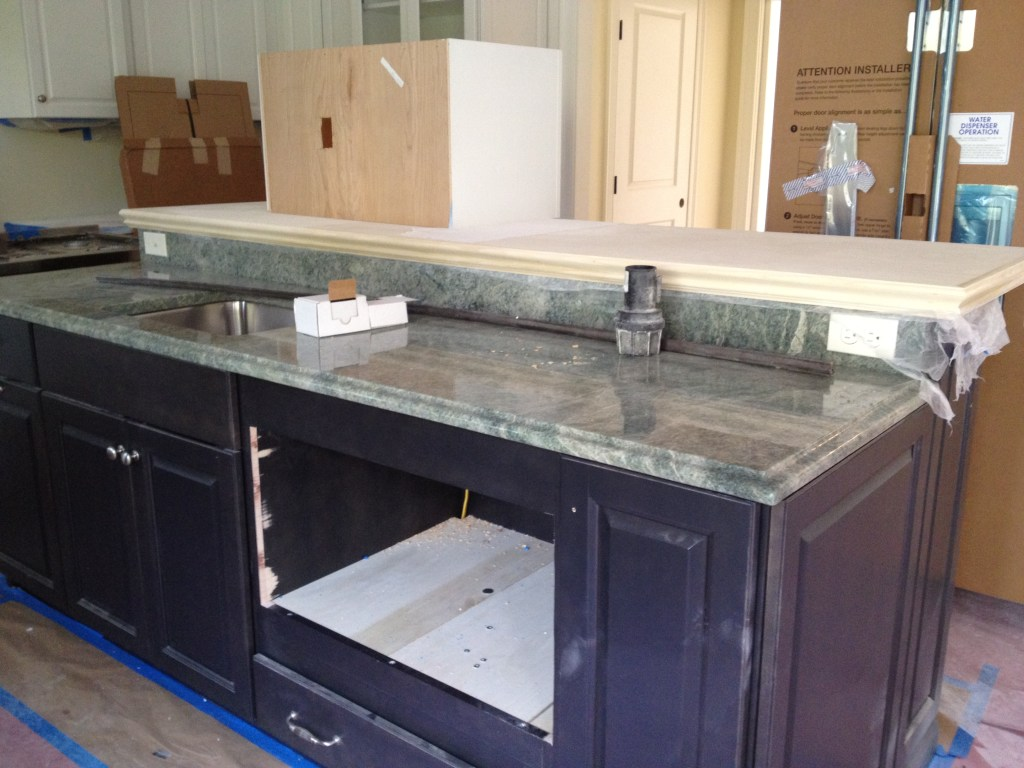 Costa Esmeralda Countertop on Gray Island