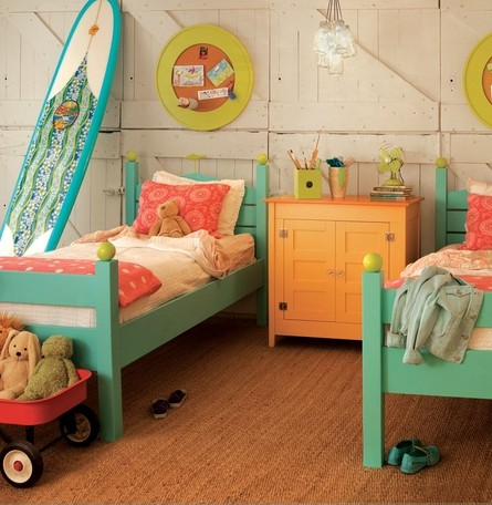 Surfer Girls Bedroom
