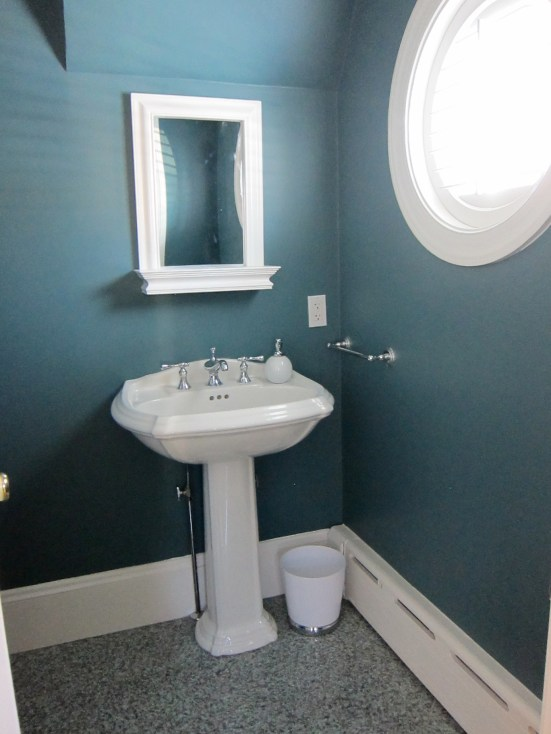 Powder Room - Benjamin Moore Fair Isle Blue