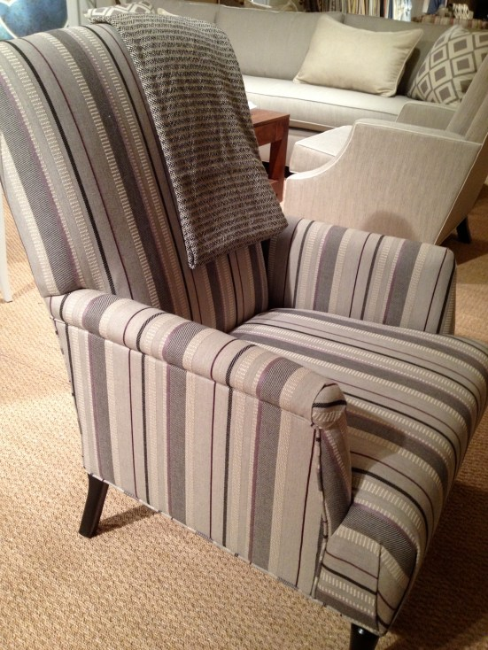 Sunbrella upholstery and throw from Joe Ruggerio at Miles Talbott #hpmkt