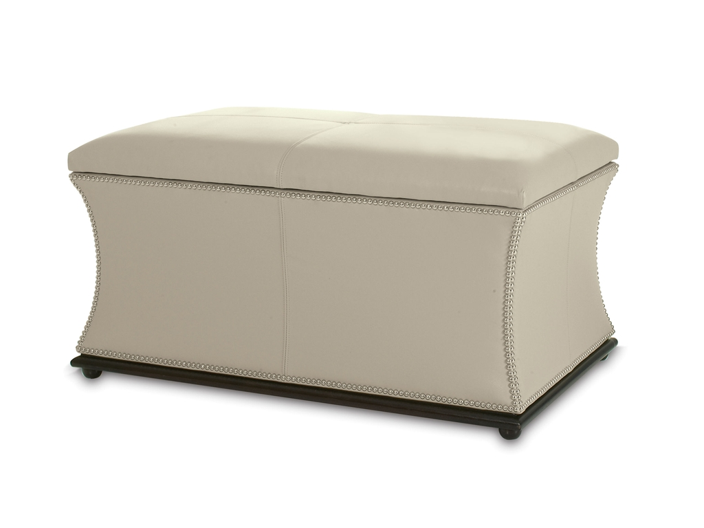 Kravet Newport Storage Ottoman - 10 High-Style Storage Ottomans | Interiors For Families