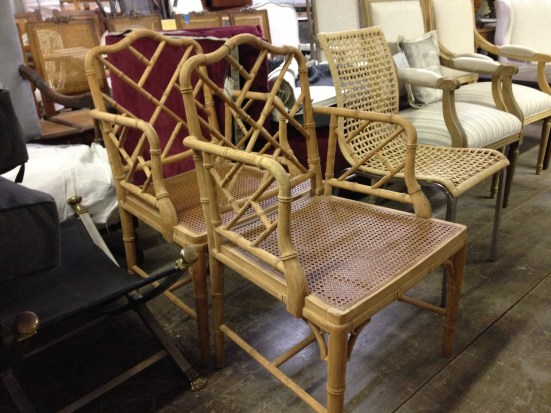 Faux Bamboo Chinese Chippendale Chairs - Berkshire Home & Antiques