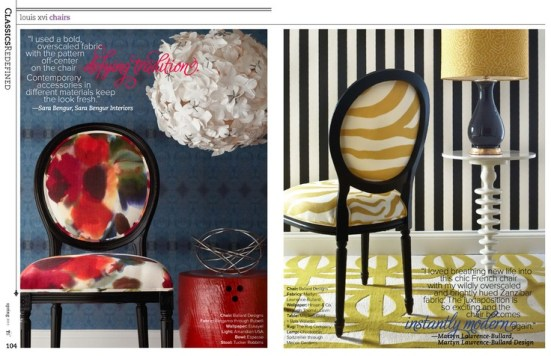 Louis XVI Chairs in Contemporary Upholstery   Trendy vs. Timeless: Getting the Balance Right   Interiors For Families