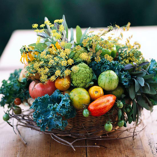 Fall Centerpiece from BHG | via Interiors For Families