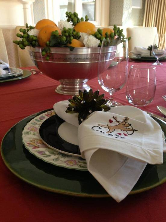 Holiday Place Setting by Kelly Rogers Interiors | via Interiors For Families