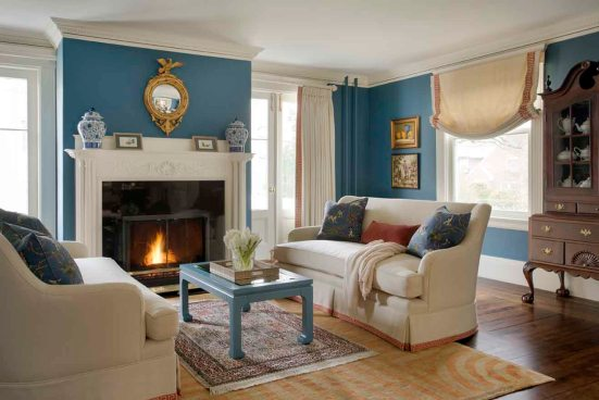 Formal and Family-Friendly Living Room | Kelly Rogers Interiors | via Interiors For Families